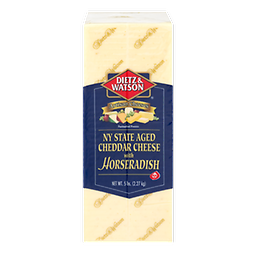Horseradish Cheese 1lb $10 !! US SELLER !! Dietz & Watson NY State Aged Cheddar Cheese With Horseradish. Artisan cheeses. Pasteurized process. A quality product.We are all cut the cheese to order and vacuum seal it