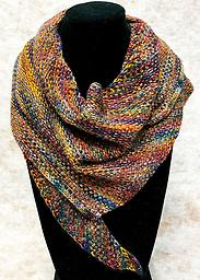 Kate's Linen Stitch Shawl Kit includes one skein Dream in Color Smooshy with Cashmere Fingering Weight yarn and printed pattern
