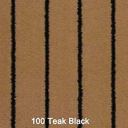 TEAK BLACK 100 TEAK BROWN COLORED CARPET WITH BLACK LINES RUNNING THE LENGTH.