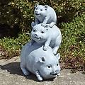 3 Little Pigs Garden Statue - Curbside Pickup - 3 Pigs Garden Statue 10.5 inches tall