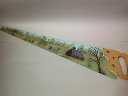 Hand painted Saw - Curbside Pickup Hand painted Saw 26 inch blade