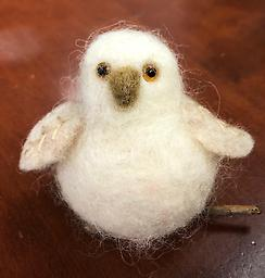 Owl Needle Felting Kit Kit by Marie Mayhew Designs Includes all materials, instructions, and needle felting tool. Glass eyes included