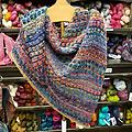 Serenity Shawl - Serenity Shawl Kit Made with Ella Rae Marmel Yarn *Please specify your 3 color choices at checkout!*
