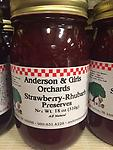 Strawberry Rhubarb Preserves - One of our best sellers. Anderson & Girls private label Strawberry Rhubarb has amazing flavor. Comes in 18 oz & 9.5 oz