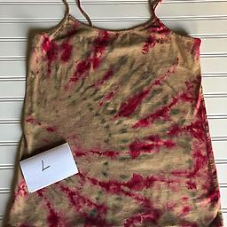 Red and Taupe Cami Size L Red and Taupe Cami