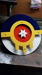 """16 """" Round Tulsa Flag Wall sign This is made from 14 guage, cnc plasma cut , raised with stainless fasteners, a great addition to your home or front porch..."""