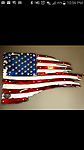 tattered american flag - raised and powder coated for years of sparkle....add one to your man cave today!!!