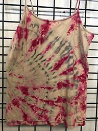 Cami taupe, red and grey 90/10 cotton/spandex