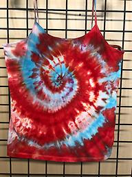 Cami red and turquoise 90/10 cotton/spandex