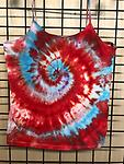Cami red and turquoise - 90/10 cotton/spandex