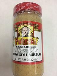 Pulaski Stone Ground Polish Style Mustard, 7.25 oz .!! US SELLER !! if you have some question,please contact us 570-251-7751 or Email us romansfamous@gmail.com