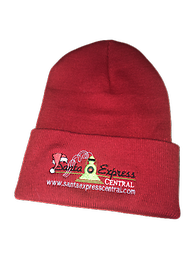 Santa Express Central Beanie Santa Express Central Red Beanie with Logo