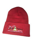Santa Express Central Beanie - Santa Express Central Red Beanie with Logo