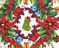 BC33- Xmas Poinsettias/Bells (F0227) - Christmas Poinsettias and Bells