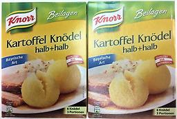 KNORR POTATO DUMPLINGS HALF AND HALF BAVARIAN STYLE (PACK OF 6) 150G This Bavarian Potato Dumpling Mix allows you to make quick, easy, hassle-free, and delicious Bavarian potato dumplings! And the best part? It tastes just like it was home made from scratch! 2p for $12