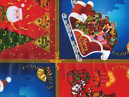 """B37- Xmas Scenes (F0331) Deluxe Flannel Back Vinyl Tablecloth. Order by the roll which is 54"""" wide x 15 yards long. The material is reusable and durable for both indoor and outdoor use."""