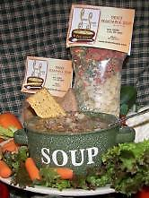 Beefy Vegetable Soup A warm and satisfying beef broth soup! Vegetables included are carrots, potatoes and celery.