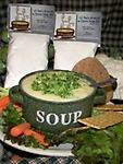Broccoli Cheese Soup - This creamy and flavorful soup goes together in a flash because it uses frozen chopped broccoli and Velveeta Cheese.