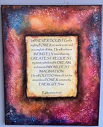 Painted Verse Class September 26th 11am-1pm Create a vibrant painting with your favorite verse, poem, quote or inspirational saying with fun techniques and paints!