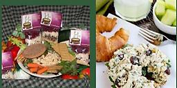 Summer Delight Chicken Salad or Cheeseball Mix Our delightful and scrumptious chicken salad mix prepared and served as a sandwich or a top a bed of lettuce!