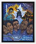 """Asante Riverwind - Know Justice, Know Peace: No Justice - No Peace!, 2020 Acrylic on canvas, 20"""" x 16"""""""