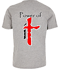 Power of iT T-Shirt Grey - Power of iT Logo on Back of T-Shirt