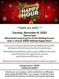 DDBC December Virtual Holiday Happy Hour 12.8.2020 What better way to get in to the Holiday season than a Virtual Holiday Happy Hour!