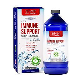 Daily Immune Support Supplement 8 fl. oz. of Silver Biotics Daily Immune Support Supplement with SilverSol Technology.