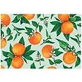Hester & Cook - Orange Blossom Placemats - Brightly colored orange blossom disposable paper placemats will liven up any table setting.