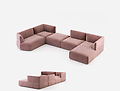 DISRUPTION SOFA - Curvy and simple, Disruption Sofa combines various elements to satisfy any desire for comfort. A timeless seating piece with seductive curves. Welcoming, Disruption Sofa creates cosy interiors.
