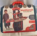 """Workbench Tool Play Set - Workbench tool play set is 11"""" wide and 8"""" tall. It contains 6 screws and nuts and 7 tools. Lots of fun play."""