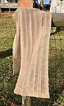 """100% Suri Alpaca Scarf - Beige #1101 - Lightweight and delicately knit, these luxuriously soft and warm scarves were produced with fiber from our Suri alpaca herd. Size = 12"""" X 60"""", Shipping is $8 PER ORDER. Orders over $100 ship FREE,"""