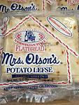 Potato Lefse Mrs. Olson's 9.6 oz 6P, Norwegian Style 2p for $12 - if you have some question,please contact us 570-251-7751 or Email us romansfamous@gmail.com