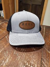 Leather Patch Cap Richardson Hat with BSGC logo leather patch