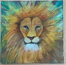 """ROYAL LION"" Prophetic Painting Workshop March 27th 11am-1pm Come out on March 27th to learn how to create the ""ROYAL LION""! This workshop will be led by artist and owner of The Dream Tree Studio, Sarah G. Keesen. Cost is $25 All supplies included!"