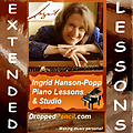 Ingrid Hanson-Popp 45 min. Piano Lesson (special extended) - Fee payment for a single 45 minute lesson (special extended) for Ingrid Hanson-Popp Piano Studio (Dropped Pencil LLC.) (Please PAY ONCE for whole month! Thanks!)