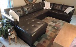 *Macy's Martino Leather Sectional Martino Leather Sectional