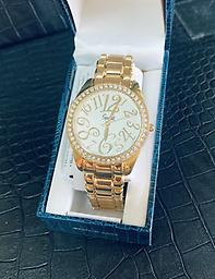 Ladies Speidel - Gold Speidel womans watch in gold with large face and folding buckle clasp