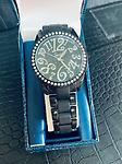 Ladies Speidel - Black - Speidel Womans black watch with a large face and metal band with folding clasp