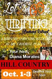 Let's Go Thrifting Weekend Retreat - October 1-3, 2021 A wonderful 3-day weekend filled with GREAT ministry, faith, fun, shopping, fellowship, friendship and cheesecake!