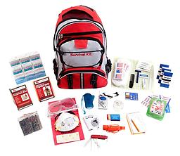 Guardian (1 Person) Deluxe Survival Kit All items are packed securely in our Elite Multi-pocket Hikers Backpack which contains extra space available for personal items.