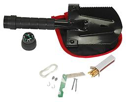 Compact Multi-Function Shovel Kit This is a great tool to keep handy in survival kits or in the car.