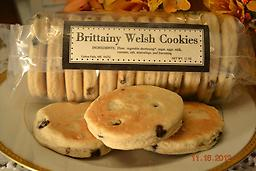 Brittainy Welsh Cookies Our original Welsh Cookies are frequently labeled 'addictive'. Each cookie is loaded with currants, and memorably flavored with pure vanilla and nutmeg.