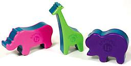 RhythMix Animal Shakers by LP Percussion Set of three colorful, animal shaped percussion shakers. Made of wipe-clean plastic with non-toxic steel shot fill 3 piece set includes a musical activity booklet