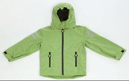 Ducksday Shell/Rain Jacket (Funky Green) Ducksday Shell Jackets include an attached fold away hood. They have very high protective value (5000/5000) and are windproof, waterproof, and breathable.