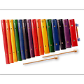 15 Note 2 Octave Wood Xylophone - Kids learn to play by Color with this beautiful, 2 octave, solid Wooden Xylophone.