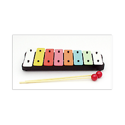 8 Note Metal Xylophone This 8 note Xylophone was specifically designed for primary grades, and utilizes colorful bars to help children with note/color recognition.
