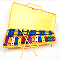 25 Note Xylophone / Bell Set - Learn to play by color with this beautiful, 2 octave, metal key Xylophone! (25 Keys G-G Scale)