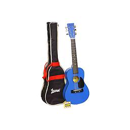 Blue Acoustic Guitar Package Due to the smaller scale length of the instrument and the unbeatable price, this guitar is great for beginners or players with smaller hands.