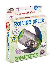 Rolling Shapes Bell Rattle Playtime just got a little more exciting with this colorful rattle that can be held with both hands